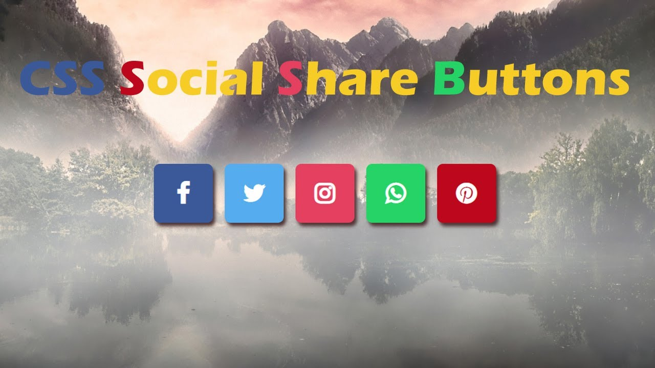 Social Share Icon Design in HTML and CSS