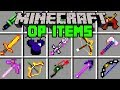 Minecraft OP ITEMS MOD! | CRAFT OVERPOWERED ITEMS, ARMOR, & MORE! | Modded Mini-Game