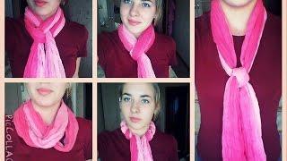 Как красиво завязать шарф / 5 способов