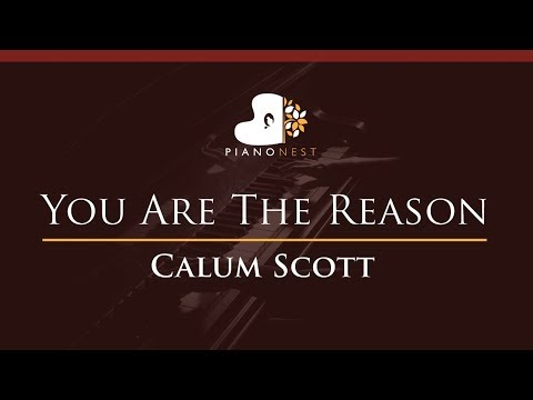Calum Scott - You Are The Reason - HIGHER Key Piano Karaoke  Sing Along