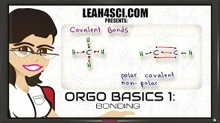 Ionic, Polar Covalent and Non-Polar Covalent Bonding in Organic Chemistry