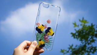 DIY pressed flower phone cases craft