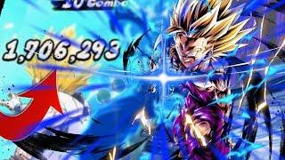 1.7 Million Damage Legendary Finish?! 498% SSJ2 Gohan Team | Dragon Ball Legends
