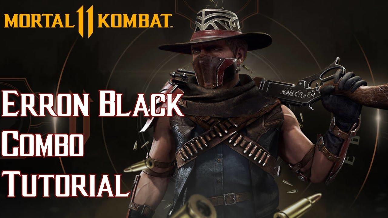 Erron Black Combo Tutorial [Mortal Kombat 11]