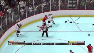 NHL 14 : Fights! (NHL 94 Anniversary Mode)
