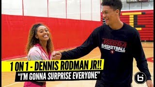 Dennis Rodman Jr Up Close & Personal w/ Son of NBA Legend! 1 on 1 Gets Heated?? 😂😂😂
