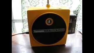 Vintage Panasonic Yellow TNT Plunger 8-Track Player