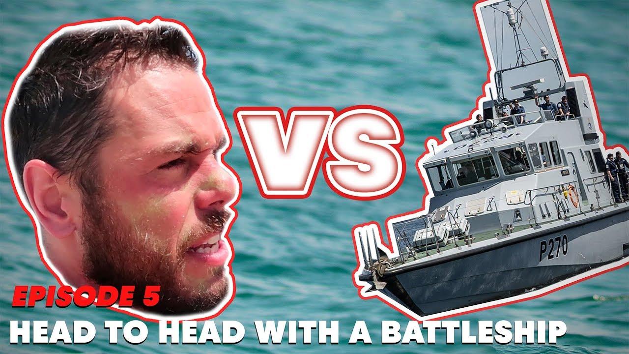 Head to head with a battleship. | The Great British Swim:E5