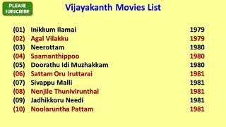 Vijayakanth Movies List