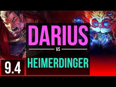 DARIUS vs HEIMERDINGER (TOP) | 2 early solo kills | Korea Master | v9.4