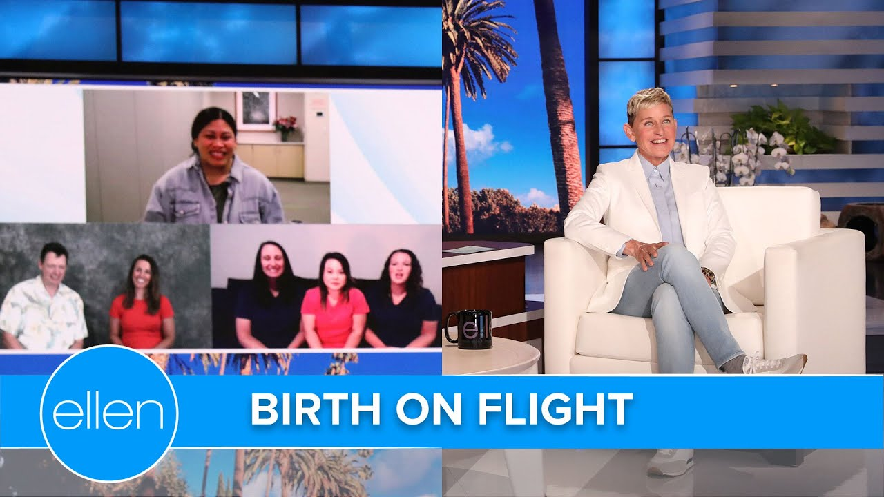 Ellen Meets Woman Who Gave Birth on Flight, Passengers Who Delivered Baby