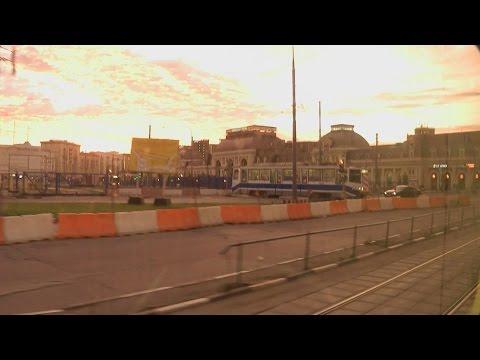 . Москва. Поездка в трамвае №А по ЦАО