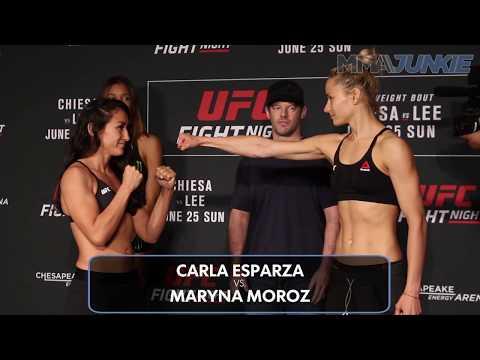 UFC Fight Night 112 weigh-in face-offs