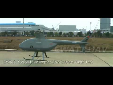 EWATT EWZ-l Unmanned Helicopter UAV High-altitude Flight Tes