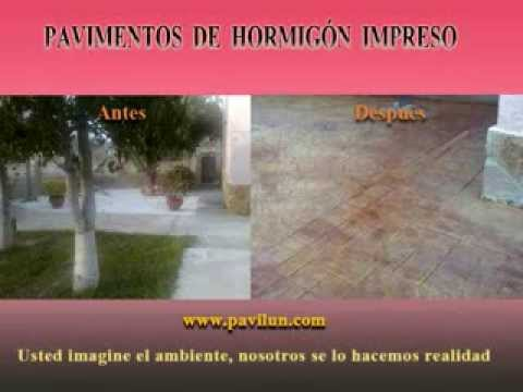 Hormigon impreso antes y despu s pavilun youtube for Hormigon impreso youtube