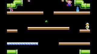 Mario Bros - Mario Bros (NES / Nintendo) - NES Remix Netplay Tournament: Davideo7 (P2) vs Surgiac (P1) - User video