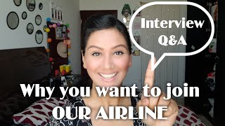 Cabin Crew Interview QampA-Why you want to Join Our AIRLINE