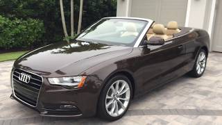 2013 Audi A5 Premium Cabrio Review and Test Drive by Bill - Auto Europa Naples