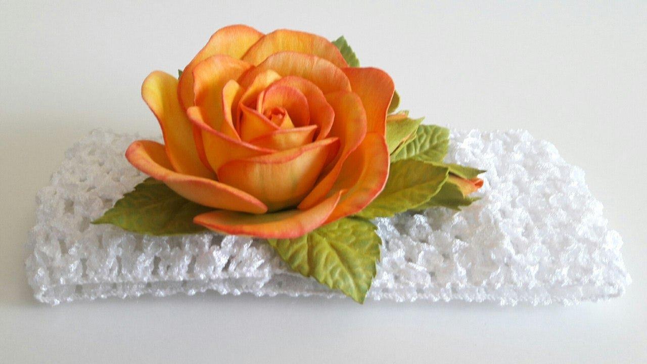 Сделать своими руками повязку с цветком фото 138