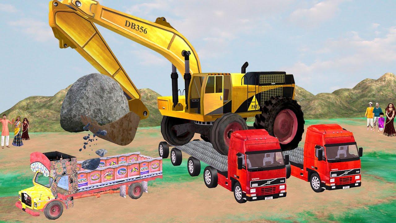 Giant JCB Truck Hindi Kahaniya Funny Comedy Video विशाल जेसीबी हिंदी कहानियां Hindi Comedy Stories