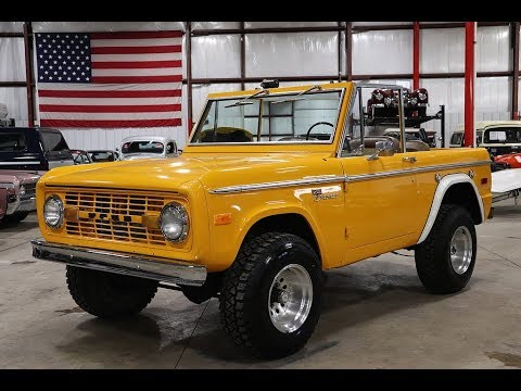 Yellow Orange Ford Bronco