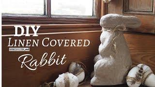 DIY Linen Covered Rabbit