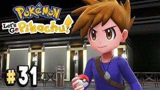 Pokemon Let's Go Pikachu Part 31 TRAINER BLUE BATTLE Walkthrough Gameplay
