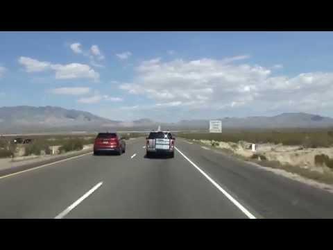 I-15 in California: Driving into Primm, Nevada