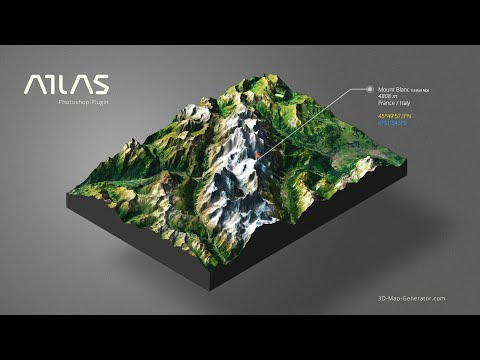 From Google Maps to 3D Map in Photoshop - 3D Map Generator -