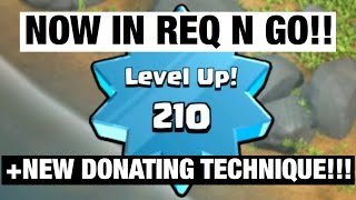 reaching level 210 new donating technique