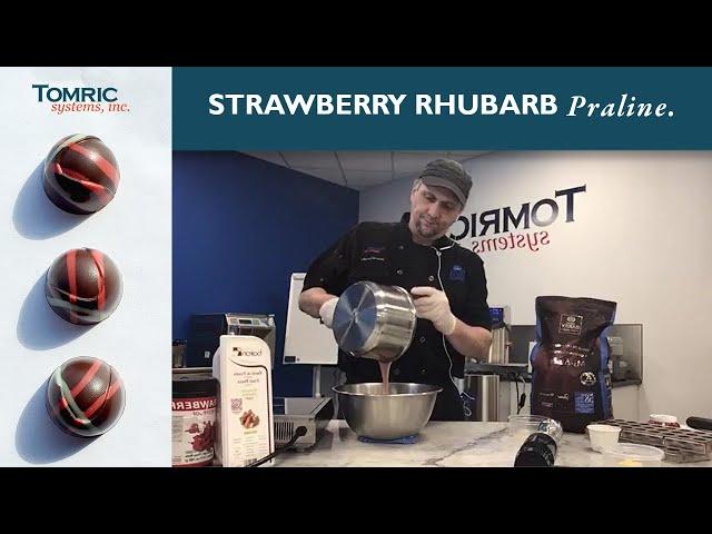 Strawberry Rhubarb Ganache
