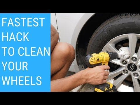 How To Clean Car Rims/Tires EASY HACK! Wheel Brush!