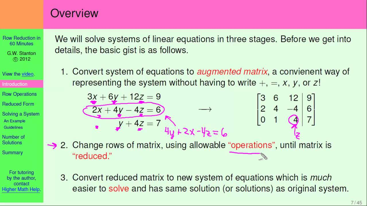 essay about systems of linear equations Example 2: solve the systems of equations by elimination method this is quite interesting because no variables will cancel when added what i want is to introduce a multiplier to one of the equations, or both, and then observe if i arrive at some coefficients that only differ in signs.