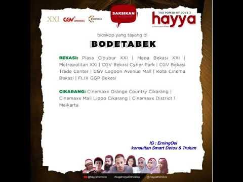 Update News ! Jadwal Tayang Film Hayya Di Bioskop Seluruh Indonesia XXI CGV Cinemaxx