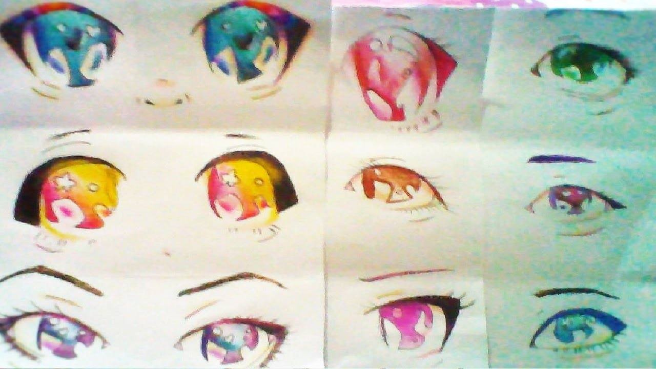 ojos anime hombre kawaii: (kawaii)9 Maneras De Pintar Ojos Anime-manga A Lapiz