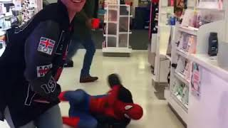 Ghetto spider man 😂🔥 danceing the store