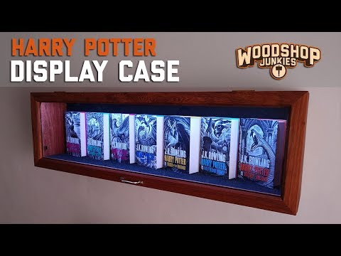 Making A Display Case With LEDs For My Brothers Harry Potter Book Collection