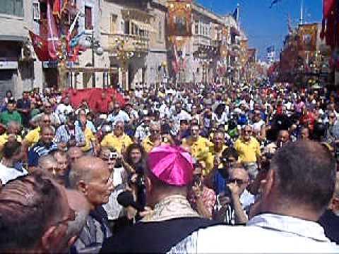 Zabbar Festa tal Madonna tal Grazzja Pellegrinaġġ Muturi u Roti bis sehem tal Arċisqof Pawlu Cremona l Ħadd 11 ta' Settembru 2011  malcolm schembri zabbar malta part 2