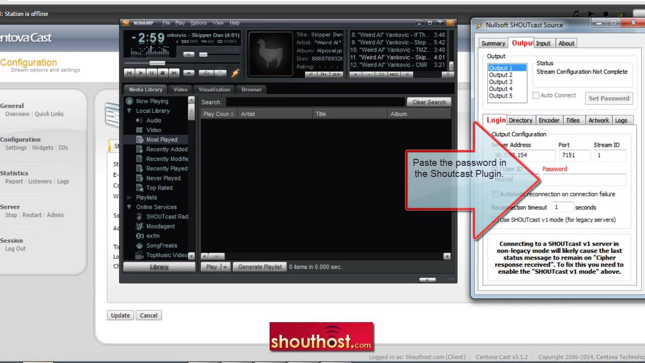 SOURCE V1.9.0 DSP SHOUTCAST TÉLÉCHARGER