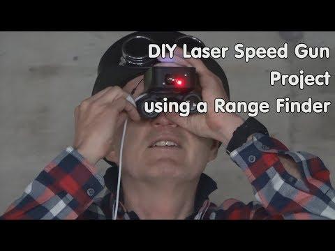 #198 Laser Speed Gun Project With Range Finder And ESP32  (Distance Meter)
