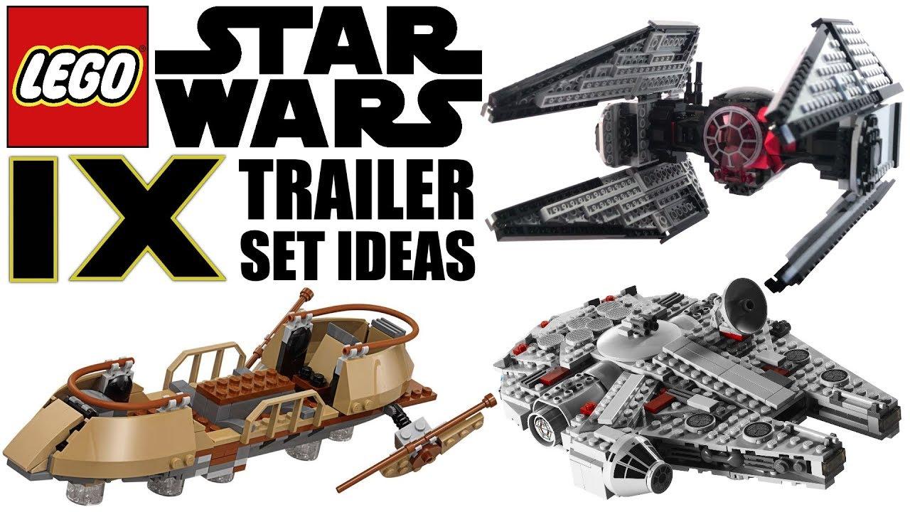 Lego Star Wars Episode 9 Sets The Rise Of Skywalker Trailer Set Ideas Youtube