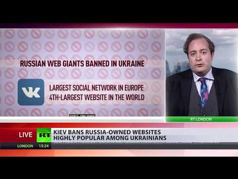 'North Korea in Europe' Ukraine bans most popular social networks because they are Russian-owned