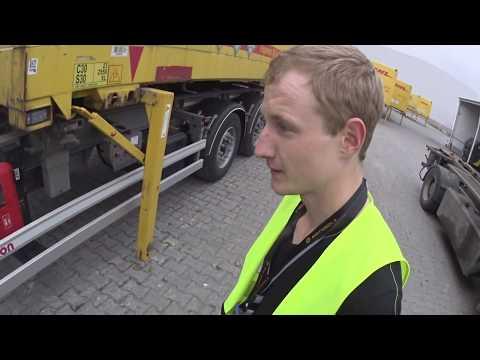 BDF-контейнер. Загрузка - выгрузка контейнера. Встретил земляка в Польше.