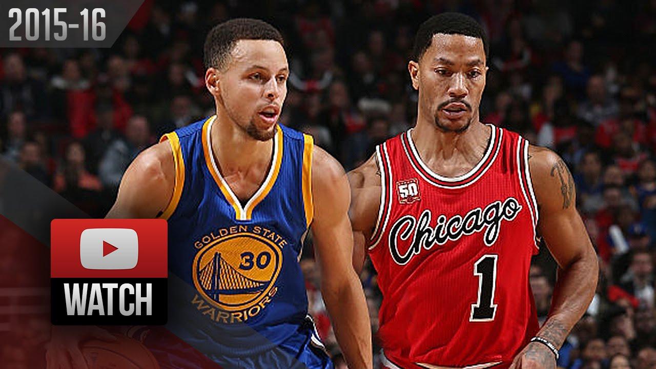 5ea69010b695 Stephen Curry vs Derrick Rose PG DUEL Highlights (2016.01.20) Bulls ...