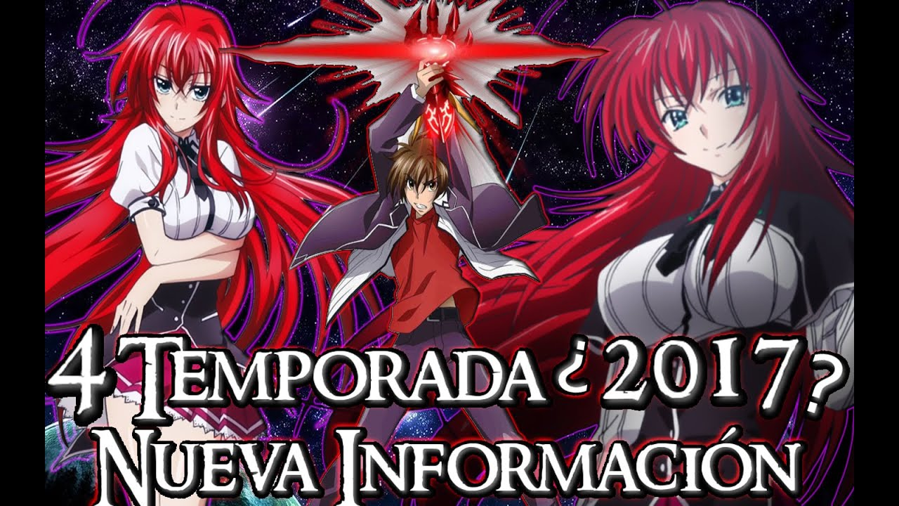 HIGH SCHOOL DXD CUARTA TEMPORADA
