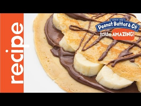 Crepes with Peanut Butter & Bananas Recipe