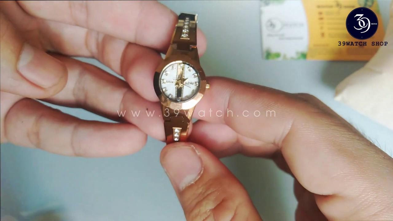 Review Đồng hồ Rado nữ màu vàng RA19 NUMT mặt trắng, dây đá ceramic nguyên khối, mặt kính saphire