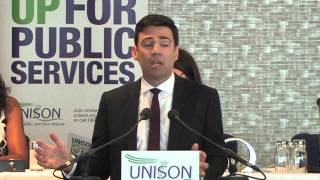 Labour leadership debate - Andy Burnham addresses UNISON