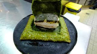 Head Chef Torsten Michel prepares fish in salt crust at 3 star restaurant Schwarzwaldstube, Germany