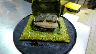 Head Chef Torsten Michel prepares fish in salt crust at 3 star restaurant Schwarzwaldstube, Germany